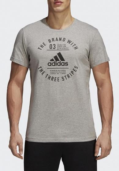 Купить Футболка adidas - цвет: серый, Турция, AD002EMCDGW1