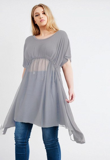 Туника LOST INK PLUS CHIFFON HEM DRAWSTRING TUNIC
