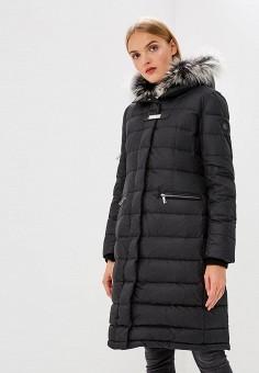 Пуховик, Baldinini, цвет: черный. Артикул: BA097EWCEGU5. Premium / Одежда / Верхняя одежда