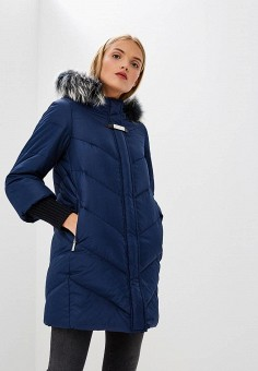 Пуховик, Baldinini, цвет: синий. Артикул: BA097EWCEGU7. Premium / Одежда / Верхняя одежда