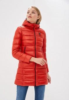 Пуховик, Blauer, цвет: красный. Артикул: BL654EWCATU0. Premium / Одежда / Верхняя одежда