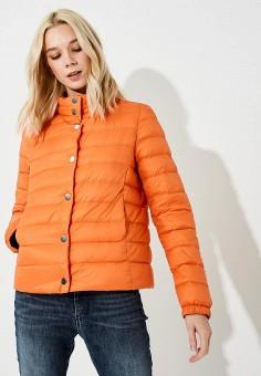 Пуховик, Boss Hugo Boss, цвет: оранжевый. Артикул: BO010EWBHOQ6. Premium / Одежда / Верхняя одежда