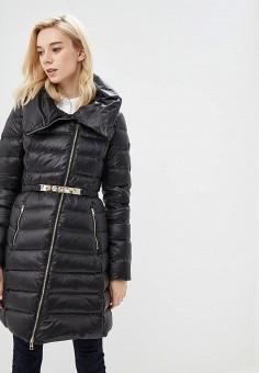 Пуховик, Liu Jo, цвет: черный. Артикул: LI687EWBSPV7. Premium / Одежда / Верхняя одежда