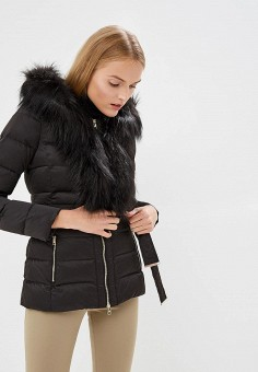 Пуховик, Liu Jo, цвет: черный. Артикул: LI687EWBSPW3. Premium / Одежда / Верхняя одежда