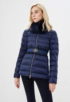 Пуховик, Liu Jo, цвет: синий. Артикул: LI687EWBSPX2. Premium / Одежда / Верхняя одежда