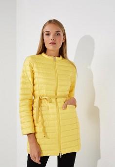 Пуховик, Max&Co, цвет: желтый. Артикул: MA111EWBYAL1. Premium / Одежда / Верхняя одежда