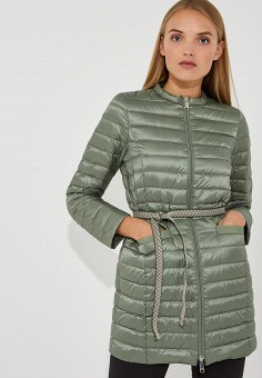 Пуховик, Max&Co, цвет: зеленый. Артикул: MA111EWBYAL2. Premium / Одежда / Верхняя одежда