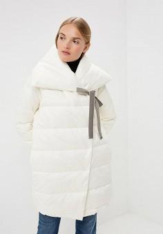 Пуховик, Max&Co, цвет: белый. Артикул: MA111EWBYAL6. Premium / Одежда / Верхняя одежда