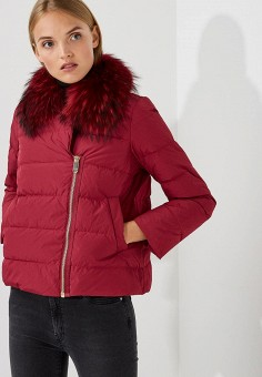 Пуховик, Max&Co, цвет: бордовый. Артикул: MA111EWBYAL9. Premium / Одежда / Верхняя одежда