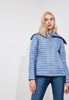 Куртка утепленная, Michael Michael Kors, цвет: голубой. Артикул: MI048EWBQMA0. Premium / Одежда / Верхняя одежда