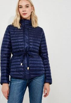 Куртка утепленная, Michael Michael Kors, цвет: синий. Артикул: MI048EWBQMC5. Premium / Одежда / Верхняя одежда