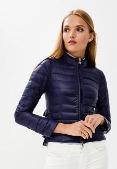 Пуховик, Patrizia Pepe, цвет: синий. Артикул: PA748EWBXSM6. Premium / Одежда / Верхняя одежда