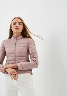 Пуховик, Patrizia Pepe, цвет: розовый. Артикул: PA748EWBXSM7. Premium / Одежда / Верхняя одежда
