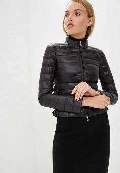 Пуховик, Patrizia Pepe, цвет: черный. Артикул: PA748EWBXSM8. Premium / Одежда / Верхняя одежда