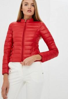 Пуховик, Patrizia Pepe, цвет: красный. Артикул: PA748EWBXSM9. Premium / Одежда / Верхняя одежда