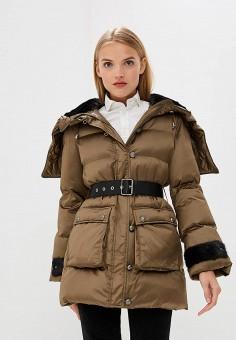 Куртка утепленная, Pinko, цвет: хаки. Артикул: PI754EWBWUY0. Premium / Одежда / Верхняя одежда