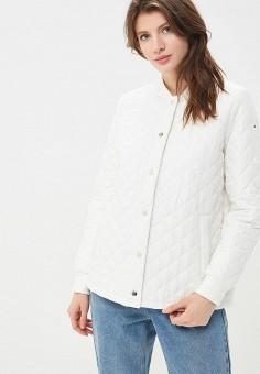 Куртка утепленная, Tommy Hilfiger, цвет: белый. Артикул: TO263EWAITQ0. Одежда / Верхняя одежда