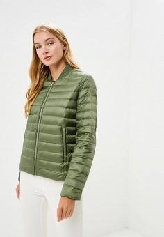Куртка утепленная, Tommy Hilfiger, цвет: хаки. Артикул: TO263EWBICF1. Одежда / Верхняя одежда