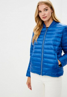 Куртка утепленная, Tommy Hilfiger, цвет: синий. Артикул: TO263EWBICF2. Одежда / Верхняя одежда