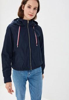 Ветровка, Tommy Hilfiger, цвет: синий. Артикул: TO263EWBICF4. Одежда / Верхняя одежда