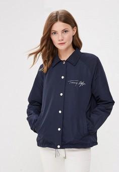Куртка, Tommy Hilfiger, цвет: синий. Артикул: TO263EWBICF5. Одежда / Верхняя одежда