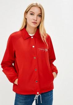 Куртка, Tommy Hilfiger, цвет: красный. Артикул: TO263EWBICF6. Одежда / Верхняя одежда