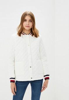 Куртка утепленная, Tommy Hilfiger, цвет: белый. Артикул: TO263EWBICN3. Одежда / Верхняя одежда