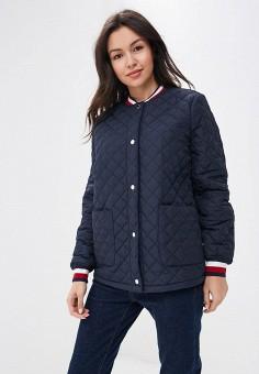 Куртка утепленная, Tommy Hilfiger, цвет: синий. Артикул: TO263EWBICN4. Одежда / Верхняя одежда