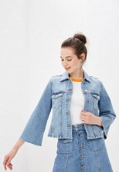 Куртка джинсовая, Tommy Hilfiger, цвет: голубой. Артикул: TO263EWBICT8. Одежда / Верхняя одежда