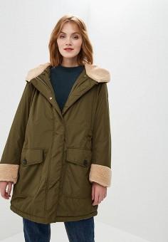 Куртка утепленная, Tommy Hilfiger, цвет: хаки. Артикул: TO263EWBWKF0. Одежда / Верхняя одежда