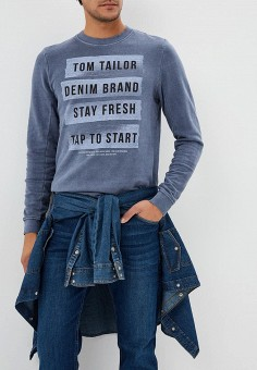 Свитшот, Tom Tailor Denim, цвет: серый. Артикул: TO793EMCHJP3. Tom Tailor Denim