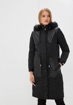 Куртка утепленная, Trussardi Jeans, цвет: черный. Артикул: TR016EWBUVQ8. Premium / Одежда / Верхняя одежда