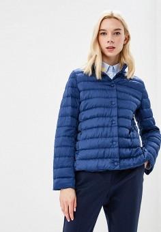 Пуховик, Weekend Max Mara, цвет: синий. Артикул: WE017EWBSZI8. Premium / Одежда / Верхняя одежда