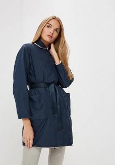 Куртка утепленная, Weekend Max Mara, цвет: бежевый, синий. Артикул: WE017EWBSZJ4. Premium / Одежда / Верхняя одежда