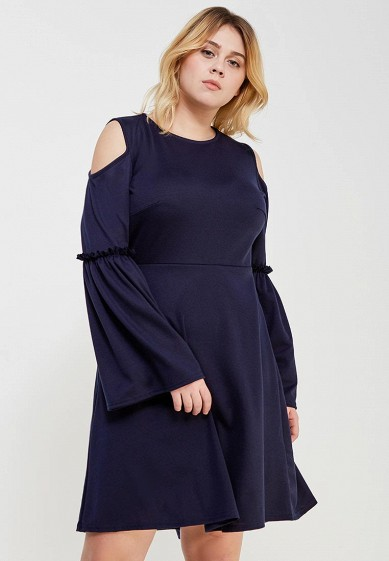 Платье LOST INK PLUS SKATER DRESS WITH FRILL WIDE SLEEVE